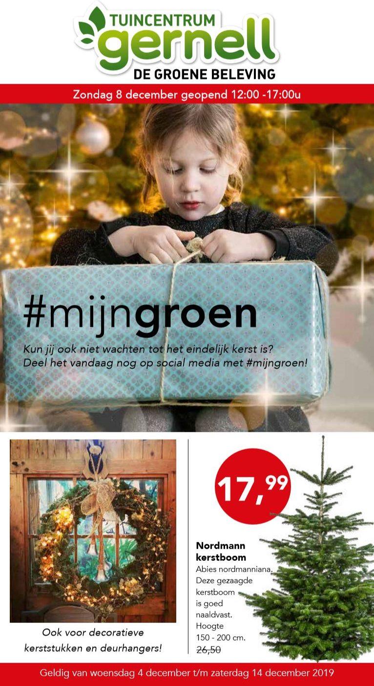 tuincentrum gernell folder aanbiedingen kerst kerstshow kerstbomen kerstverlichting kunstkerstbomen